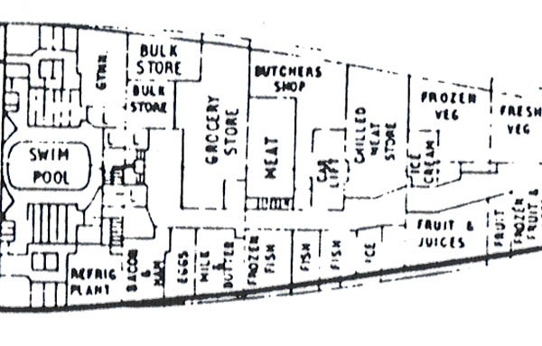 queen elizabeth cabin plan